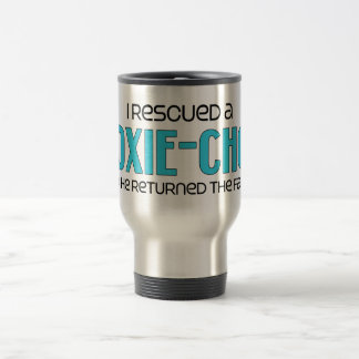 I Rescued a Doxie-Chon (Male) Dog Adoption Design Stainless Steel Travel Mug