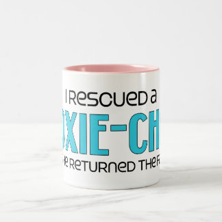 I Rescued a Doxie-Chon (Male) Dog Adoption Design Two-Tone Mug