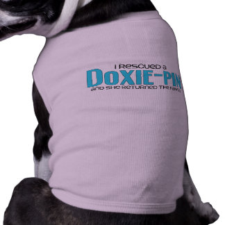 I Rescued a Doxie-Pin (Female) Dog Adoption Design Pet T Shirt