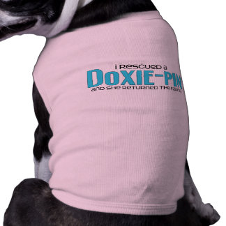I Rescued a Doxie-Pin Female Dog Adoption Design Pet T Shirt