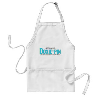 I Rescued a Doxie-Pin (Female) Dog Adoption Design Standard Apron