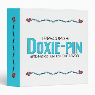 I Rescued a Doxie-Pin (Male) Dog Adoption Design Binder