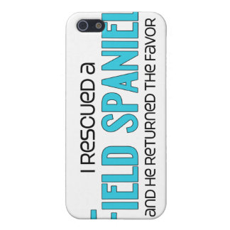 I Rescued a Field Spaniel (Male Dog) iPhone 5 Cases