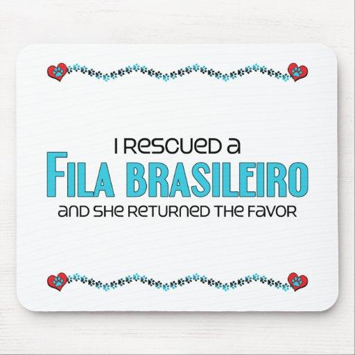 I Rescued a Fila Brasileiro (Female Dog) Mousepads