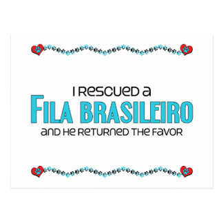 I Rescued a Fila Brasileiro Male Dog Postcard