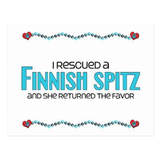 I Rescued a Finnish Spitz (Female Dog) Postcard