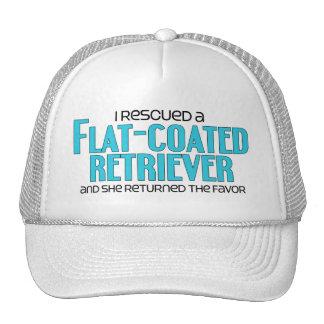 I Rescued a Flat-Coated Retriever (Female Dog) Hats