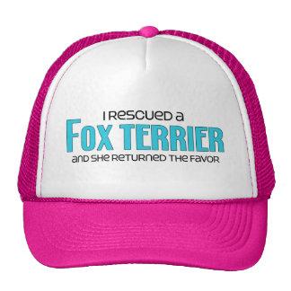 I Rescued a Fox Terrier (Female Dog) Cap