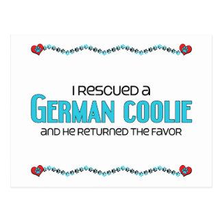 I Rescued a German Coolie (Male Dog) Postcard