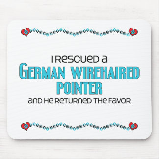 I Rescued a German Wirehaired Pointer (Male Dog) Mouse Pad