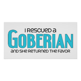 I Rescued a Goberian (Female) Dog Adoption Design Posters