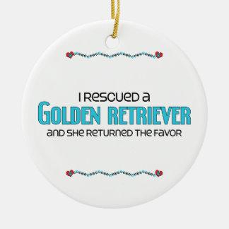 I Rescued a Golden Retriever (Female Dog) Christmas Ornament