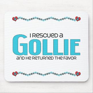 I Rescued a Gollie (Male) Dog Adoption Design Mousepad