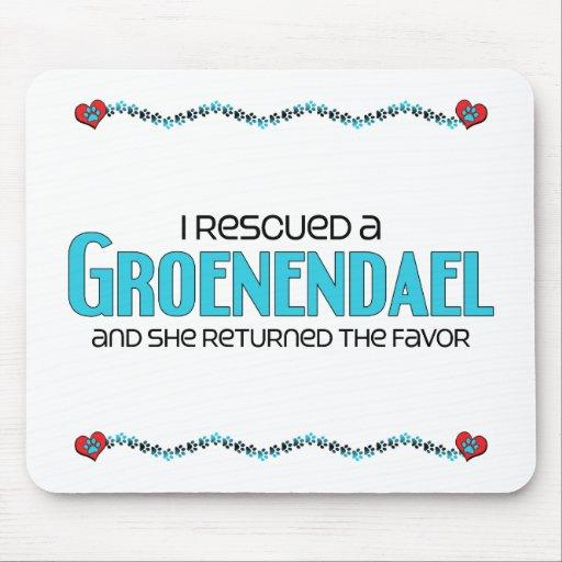 I Rescued a Groenendael (Female Dog) Mouse Pads