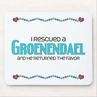 I Rescued a Groenendael Male Dog Mouse Pad