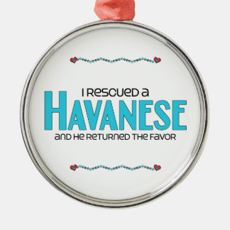 I Rescued a Havanese (Male Dog) Christmas Ornament