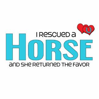 I Rescued a Horse (Female Horse) Photo Sculpture Magnet