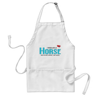 I Rescued a Horse (Male Horse) Adult Apron