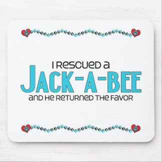 I Rescued a Jack-A-Bee (Male) Dog Adoption Design Mouse Pad