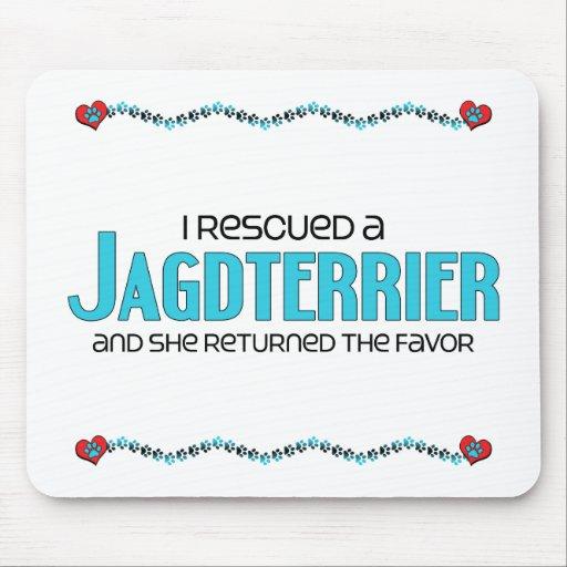 I Rescued a Jagdterrier (Female Dog) Mousepad