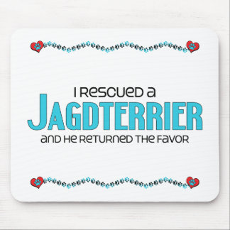 I Rescued a Jagdterrier (Male Dog) Mouse Pad