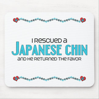 I Rescued a Japanese Chin (Male Dog) Mousepad