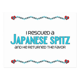 I Rescued a Japanese Spitz Male Dog Postcard