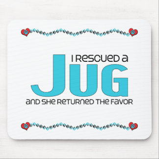 I Rescued a Jug (Female) Dog Adoption Design Mouse Pad