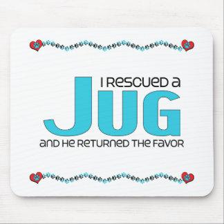 I Rescued a Jug (Male) Dog Adoption Design Mouse Pad