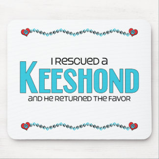 I Rescued a Keeshond (Male Dog) Mouse Pad