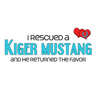 I Rescued a Kiger Mustang (Male Horse) Photo Sculpture Magnet