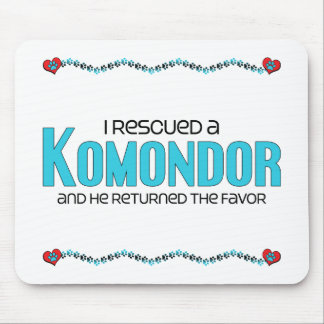 I Rescued a Komondor (Male Dog) Mouse Pad