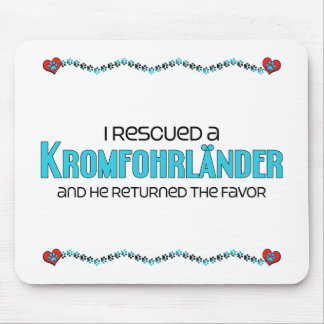I Rescued a Kromfohrländer (Male Dog) Mouse Pad