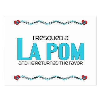 I Rescued a La Pom (Male) Dog Adoption Design Postcard