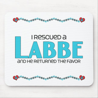 I Rescued a Labbe (Male) Dog Adoption Design Mouse Pad