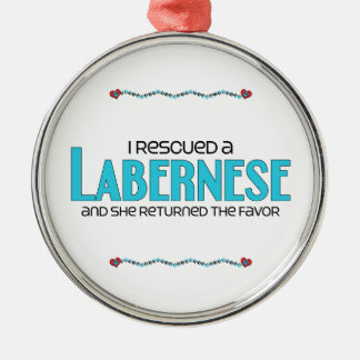 I Rescued a Labernese (Female) Dog Adoption Design Christmas Ornament