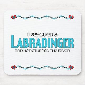 I Rescued a Labradinger (Male) Dog Adoption Design Mouse Pad