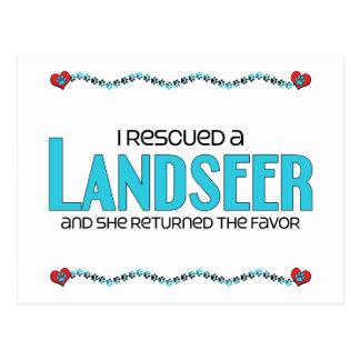 I Rescued a Landseer (Female Dog) Postcard