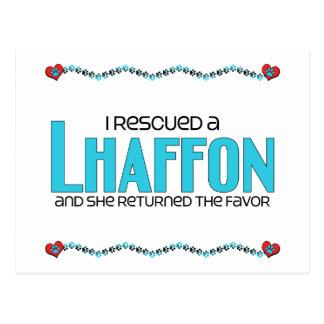 I Rescued a Lhaffon (Female) Dog Adoption Design Postcard