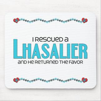 I Rescued a Lhasalier (Male) Dog Adoption Design Mousepad