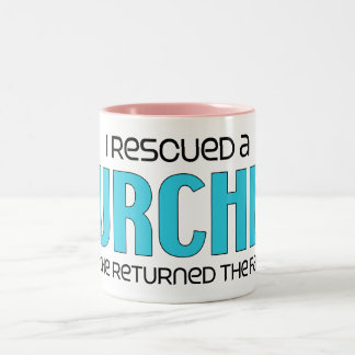 I Rescued a Lurcher (Male Dog) Two-Tone Coffee Mug