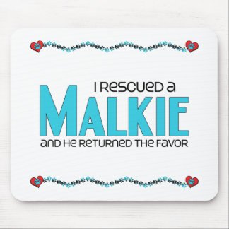 I Rescued a Malkie (Male) Dog Adoption Design Mouse Pad