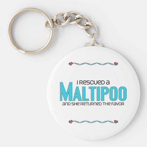 I Rescued a Maltipoo (Female) Dog Adoption Design Keychains