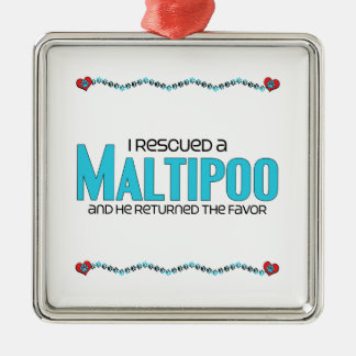 I Rescued a Maltipoo (Male) Dog Adoption Design Christmas Ornament