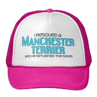 I Rescued a Manchester Terrier (Male Dog) Cap
