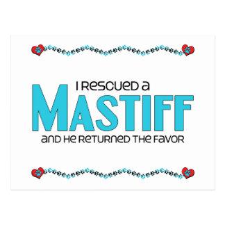 I Rescued a Mastiff (Male Dog) Postcard