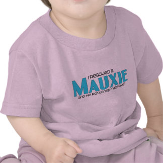 I Rescued a Mauxie (Male) Dog Adoption Design T Shirts