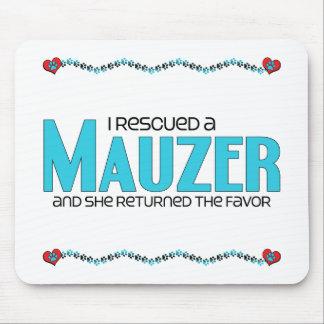 I Rescued a Mauzer (Female) Dog Adoption Design Mouse Pad