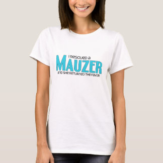 I Rescued a Mauzer (Female) Dog Adoption Design T-Shirt