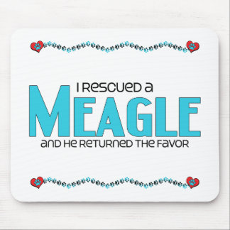 I Rescued a Meagle (Male) Dog Adoption Design Mousepad